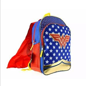 WonderWoman New Backpack with removable cape! NEW!
